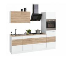 HELD MÖBEL Küchenzeile Trient, mit E-Geräten, Breite 240 cm EEK B weiß Küchenzeilen Geräten -blöcke Küchenmöbel Arbeitsmöbel-Sets