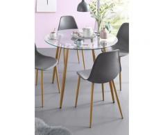 Glastisch braun Esstische rund oval Tische Tisch