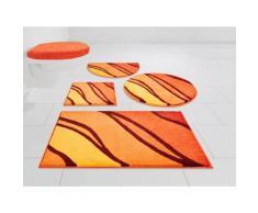 GRUND exklusiv Badematte Belize, Höhe 20 mm, schnell trocknend, weiche Haptik orange Grund Badtextilien