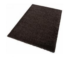Hochflor-Teppich Cosy Glamour Esprit rechteckig Höhe 40 mm maschinell gewebt, braun, Neutral, braun