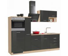 HELD MÖBEL Küchenzeile Haiti, ohne E-Geräte, Breite 160 cm grau Küchenserien Küchenmöbel Küche Ordnung