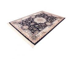 Böing Carpet Läufer Classic 4051, rechteckig, 10 mm Höhe, Teppich-Läufer, gewebt, Orient-Optik, mit Fransen blau Teppichläufer Teppiche und Diele Flur