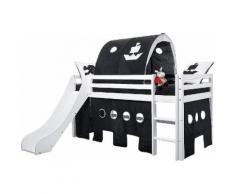 Hoppekids Hochbett Pirat, (3-tlg.) schwarz-weiß Einzelbetten Betten