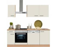 OPTIFIT Küchenzeile ohne E-Geräte »Odense«, Breite 210 cm mit 28 mm starker Arbeitsplatte, natur, creme