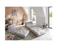 my home Sessel Caspar, Loungesessel in 2 Größen, mit Schlaffunktion und Pouf-Funktion. grau Möbel Aufbauservice