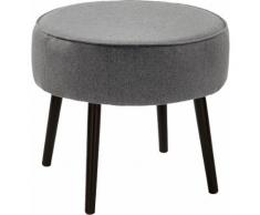 Fink Polsterhocker ELLIS, mit runder Sitzfläche grau Hocker Möbel Aufbauservice