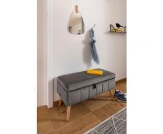 my home Truhenbank Amira, mit Staufach, in 3 Bezugsqualitäten grau Truhenbänke Sitzbänke Stühle