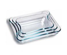 SIMAX Auflaufform Glas (3-tlg), farblos, transparent