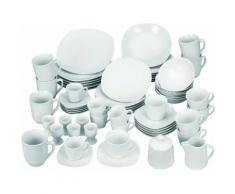 """van Well Kombiservice """"Atrium"""" (62-tlg) Porzellan, weiß, weiß"""