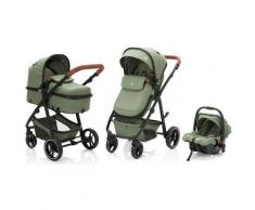 Fillikid Kombi-Kinderwagen Panther, forest green/melange, 22 kg, mit Babyschale grün Kinder Kombikinderwagen Kinderwagen Buggies