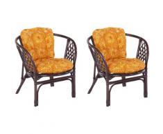 Home affaire Rattanstuhl Rattansessel, im 2er-Set aus handgeflochtenem Rattan und passenden Kissenauflagen, Breite 66 cm braun 4-Fuß-Stühle Stühle Sitzbänke
