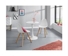 INOSIGN Esstisch Feronia, mit einer runden Tischplatte aus Holzwerkstoff und einem Trompetenförmigen Metallgestell, in zwei unterschiedlichen Tischgrößen erhältlich weiß Runde Formen Aktuelle Wohntrends Tisch