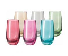 LEONARDO Glas Sora (6-tlg.) bunt Wassergläser Saftgläser Gläser Glaswaren Haushaltswaren Trinkgefäße