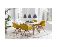 SalesFever Essgruppe (Set, 5-tlg) gelb Essgruppen Tische Sitzmöbel-Sets