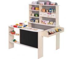 roba Kaufladen Verkaufsstand weiß/grau, inklusive Kaufladenzubehör grau Kinder Ab 3-5 Jahren Altersempfehlung
