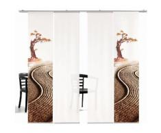 Schiebegardine, Bonsai HA, emotion textiles, Klettband 4 Stück grün Gardinen nach Aufhängung Vorhänge Gardine