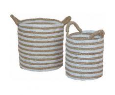 HOFMANN LIVING AND MORE Aufbewahrungskorb, 2tlg. beige Körbe Boxen Regal- Ordnungssysteme Küche Ordnung Aufbewahrungskorb