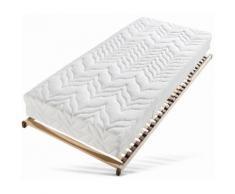 Taschenfederkernmatratze + Lattenrost Tendenz K Breckle 24 cm hoch Anzahl Federn: 1000 (Set), Neutral, natur