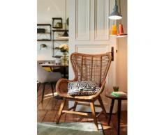 TOM TAILOR Sessel T-RATTAN ARMCHAIR, Rattanarmlehnstuhl mit Teakholzgestell und organischer Form beige Rattan-Sessel Wohnzimmer