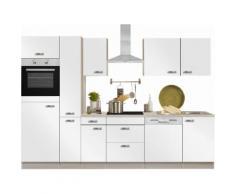 OPTIFIT Küchenzeile Faro, mit E-Geräten, Breite 300 cm EEK B weiß Küchenzeilen Geräten -blöcke Küchenmöbel Arbeitsmöbel-Sets