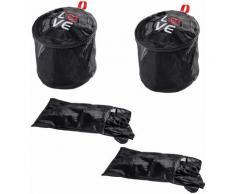 WENKO Wäschenetz Love, (Set, 4 Stück) schwarz Zubehör für Wäschepflege Haushaltswaren Wäschesäckchen