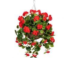 DELAVITA Künstliche Zimmerpflanze Volme, im Weidekorb rot Zimmerpflanzen Kunstpflanzen Wohnaccessoires