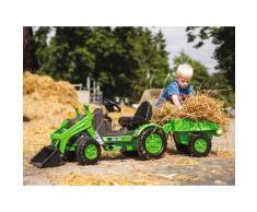 BIG Trettraktor BIG-Jim-Loader, BxTxH: 109x52x47 cm, mit Trailer grün Kinder Ab 3-5 Jahren Altersempfehlung