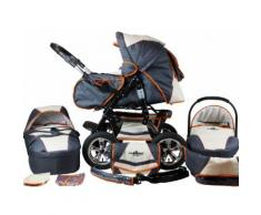 bergsteiger Kombi-Kinderwagen Milano, beige & grey, 3in1, 15 kg, Made in Europe grau Kinder Kombikinderwagen Kinderwagen Buggies