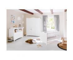 Pinolino Babyzimmer-Komplettset Florentina, (Set, 3 St.), extrabreit groß; mit Kinderbett, Schrank und Wickelkommode; Made in Europe weiß Baby Babybetten Babymöbel Möbel sofort lieferbar