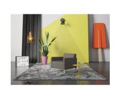 machalke Sessel single, Ledersessel mit Metallkufen grau Wohnzimmer