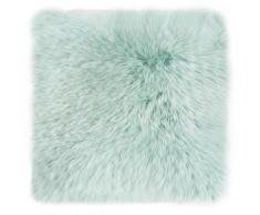 LUXOR living Fellkissen Namika, Dekokissen, Zierkissen, eckig, 35x35 cm, echtes Lammfell, inkl. Kissenfüllung, Wohnzimmer grün Dekokissen uni Kissen