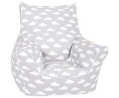 Knorrtoys Sitzsack Grey white clouds grau Kinder Sitzsäcke Sitzhocker Kleinmöbel