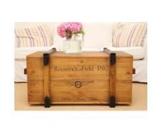 Uncle Joe´s Truhentisch Roosevelt Field braun Holz-Beistelltische Holztische Tische Tisch