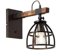 Brilliant Leuchten Matrix Wood Wandleuchte hängend schwarz stahl/holz Wandleuchten Lampen