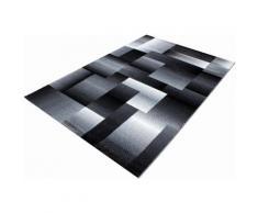 Läufer Miami 6560 Ayyildiz rechteckig Höhe 12 mm maschinell gewebt, schwarz, schwarz