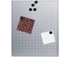 BLOMUS Magnettafel -MURO- 500 x 400 gelocht silberfarben Büroaccessoires Wohnaccessoires
