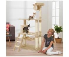 ABUKI Kratzbaum Scotty, hoch, BxTxH: 75x70x145 cm beige Kratz- Kletterbäume Katze Tierbedarf