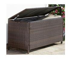 garten gut Auflagenbox Rattan, Polyrattan, braun Garten- Kissenboxen Gartenmöbel Gartendeko