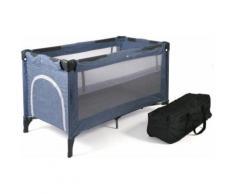 CHIC4BABY Baby-Reisebett Luxus, Jeans Blue, inkl. Transporttasche grau Baby Reisebetten Babybetten Babymöbel