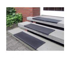 Stufenmatte Gummi Andiamo stufenförmig Höhe 7 mm, schwarz, schwarz