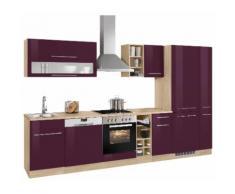 HELD MÖBEL Küchenzeile Eton EEK C lila Küchenzeilen mit Geräten -blöcke Küchenmöbel Arbeitsmöbel-Sets