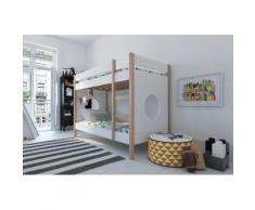 Lüttenhütt Etagenbett, im Scandic Look weiß Kinder Kinderbetten Kindermöbel Etagenbett