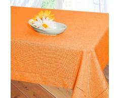 Delindo Lifestyle Tischdecke Milano, Strukturgewebe, unifarben 240 g/m² braun Tischdecken Tischwäsche