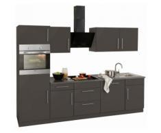 wiho Küchen Küchenzeile Cali, ohne E-Geräte, Breite 280 cm grau Küchenzeilen Geräte -blöcke Küchenmöbel