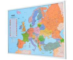 Schneider Pinnwand, Memoboard, aus Kork, Motiv Weltkarte bunt Büroaccessoires Wohnaccessoires Pinnwand