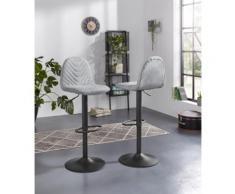 Homexperts Barhocker Circus 2, 2er-Set, drehbar mit Höhenverstellung grau Barmöbel Küchenmöbel