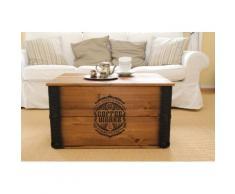 Uncle Joe´s Truhentisch Coffee Works braun Holz-Beistelltische Holztische Tische Tisch