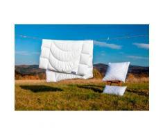 Dunlopillo Microfaserbettdecke Home, warm, (1 St.) weiß Allergiker Bettdecke Bettdecken Bettdecken, Kopfkissen Unterbetten