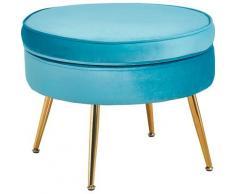 SalesFever Sitzhocker Clam, aus weichem Samtvelours blau Hocker