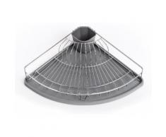 Zeller Present Geschirrständer, Metall/Kunststoff, für die Ecke grau Küchenaccessoires Wohnaccessoires Geschirrständer